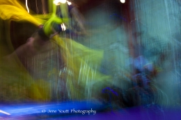 abstract color image of silk acrobat