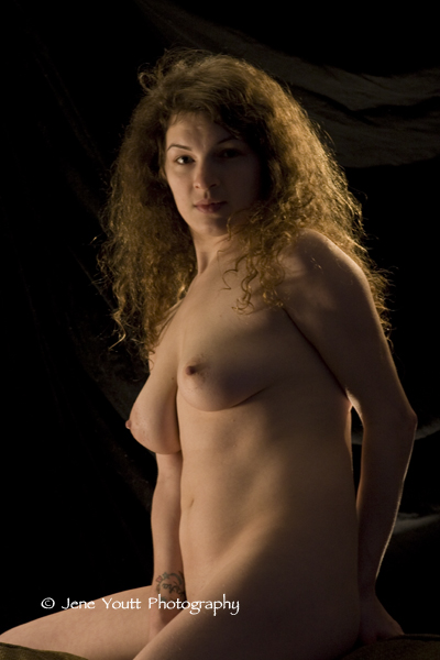 Nude topless panty down