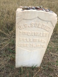 7th Cavalry soldier grave marker.