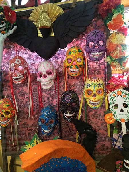 masks in  cafe in Jemez springs NM