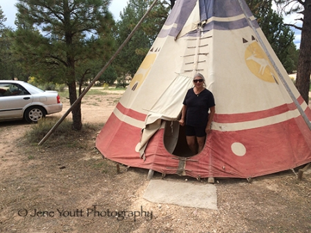mary in teepee