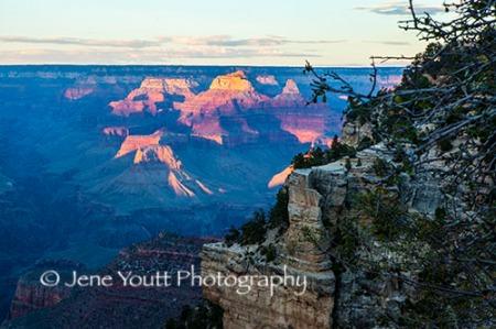 sunset, grand canyon az
