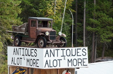 antiques lot outside of Glacier