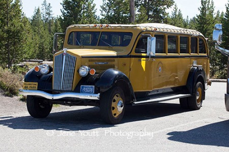 Yellowstone touring bus