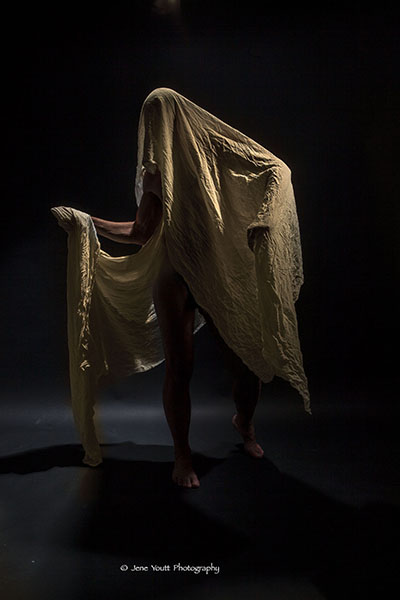 draped nude male