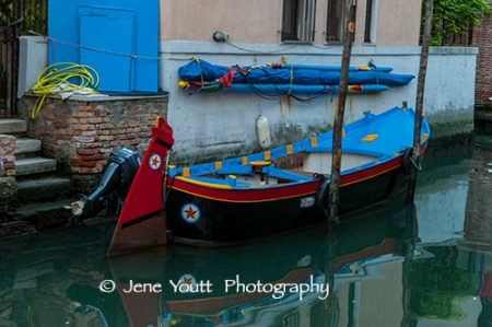 venice canal blue boat